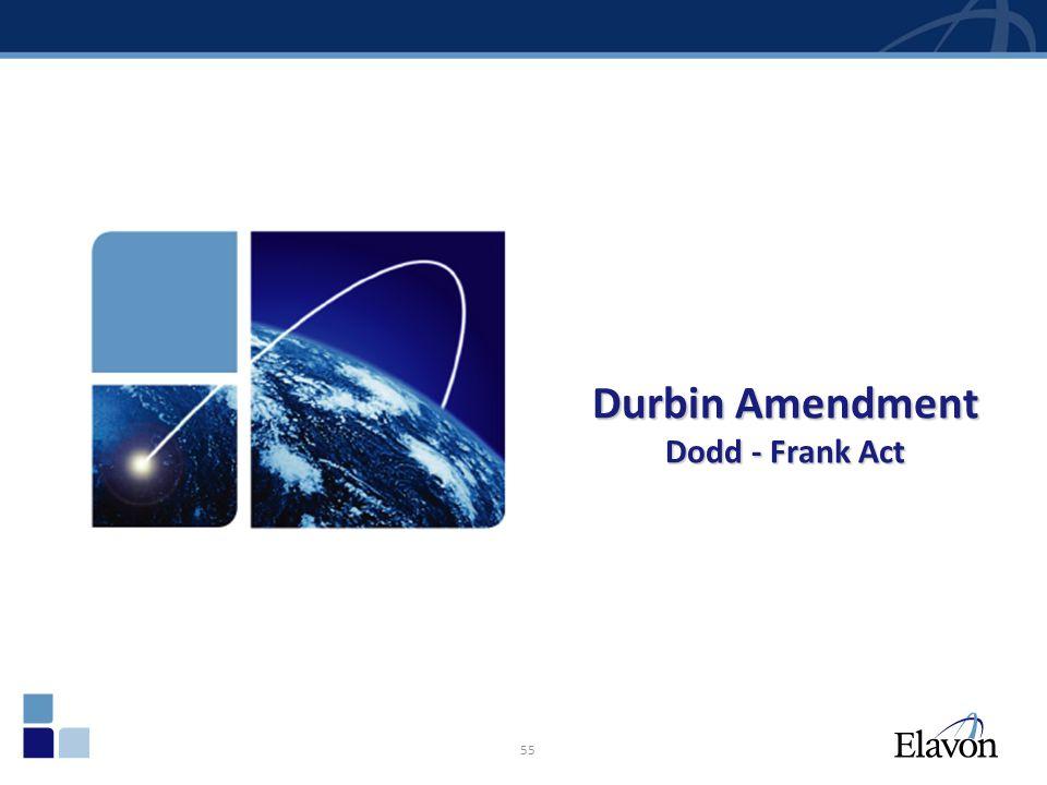 55 Durbin Amendment Dodd - Frank Act