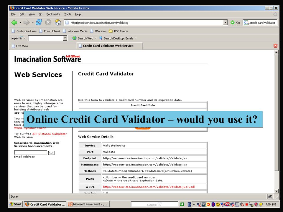 Online Credit Card Validator – would you use it?