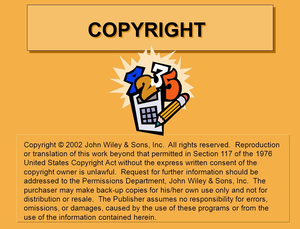 Copyright © 2002 John Wiley & Sons, Inc.All rights reserved.