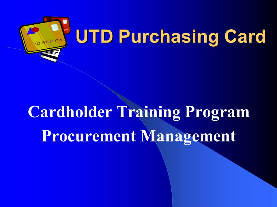 What Is the Purchasing Card.