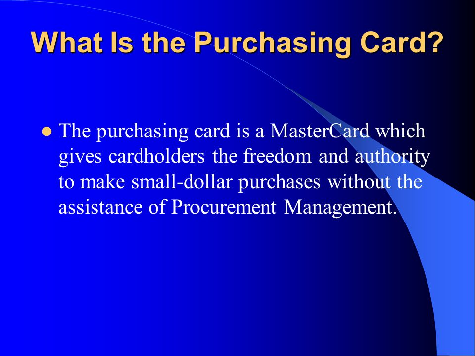 Cardholder Signature Supervisor Signature Match receipts Change default account, if applicable State business purpose for purchase
