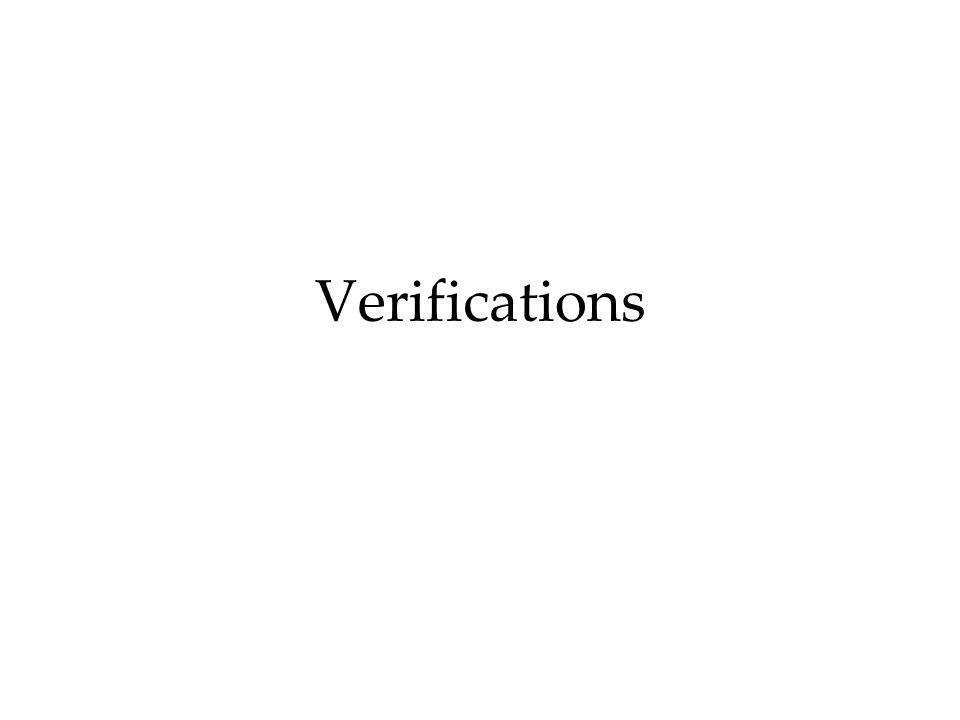 Verifications
