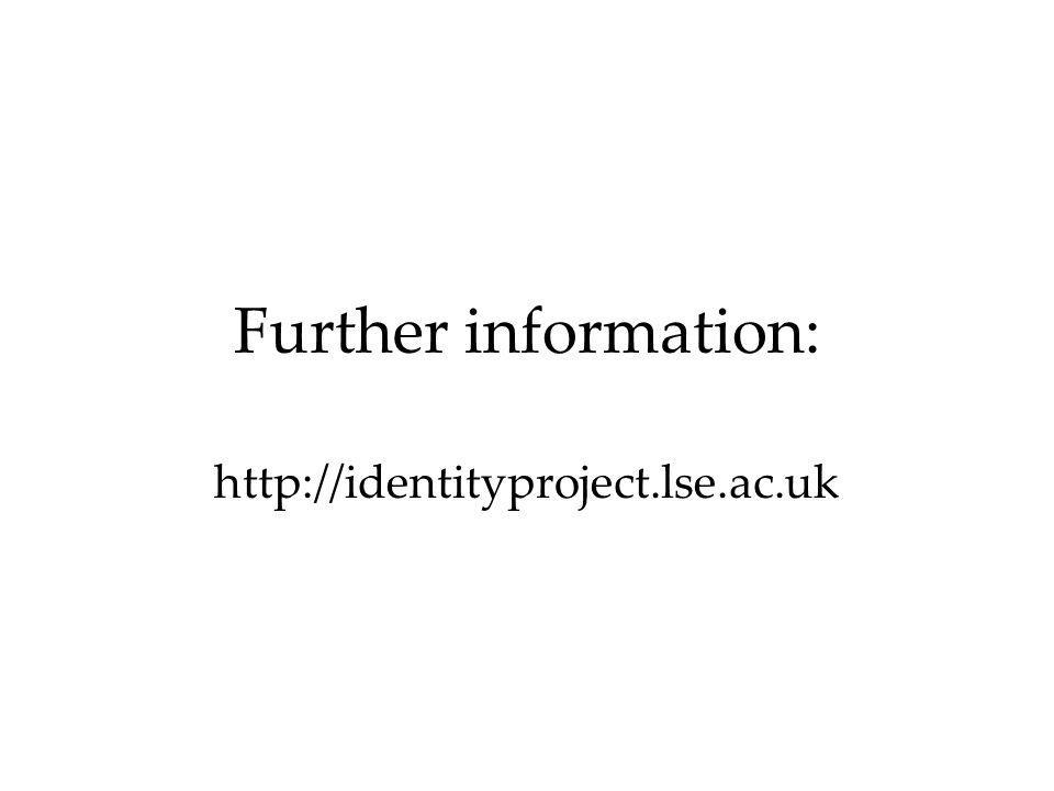 Further information: http://identityproject.lse.ac.uk