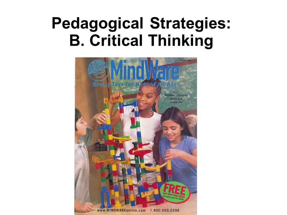 Pedagogical Strategies: B. Critical Thinking