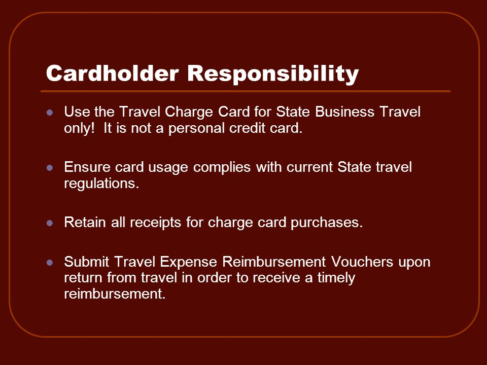 Travel Charge Card Review 9.
