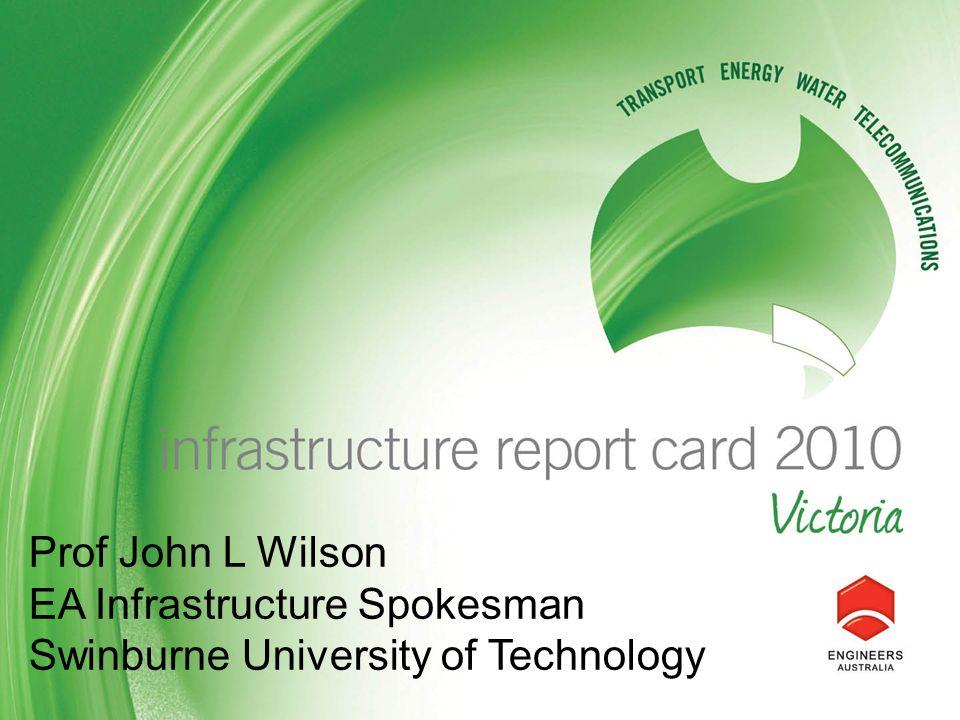 Prof John L Wilson EA Infrastructure Spokesman Swinburne University of Technology
