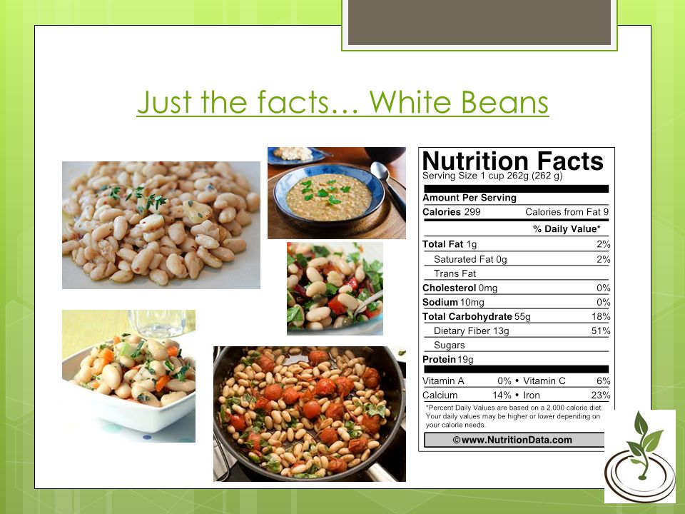 Just the facts… White Beans