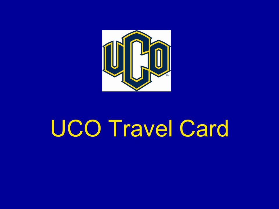UCO Travel Card