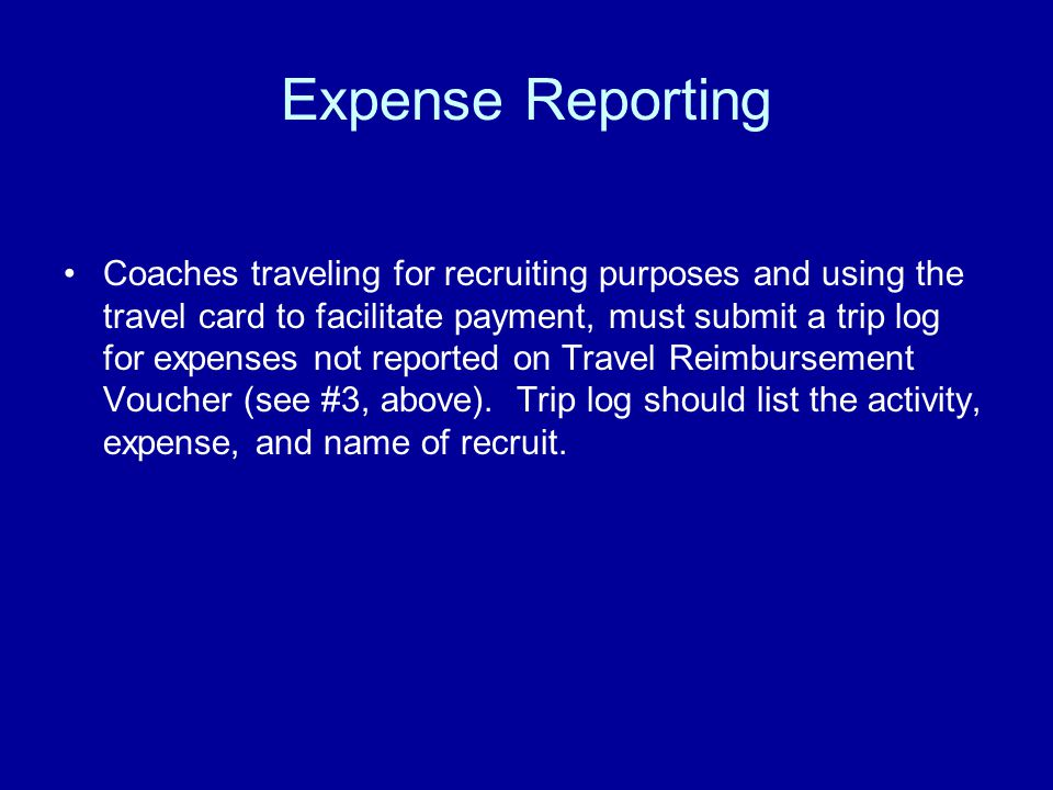 Travel Office Auditing Procedures Travel office will match all receipts to charges on credit card statement.