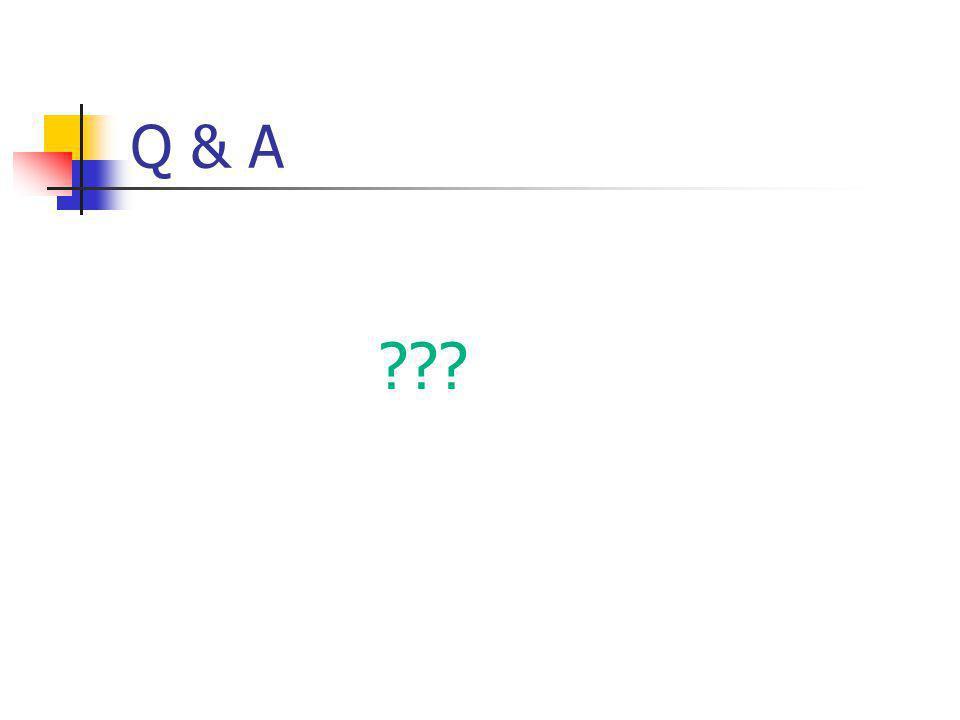 Q & A ???
