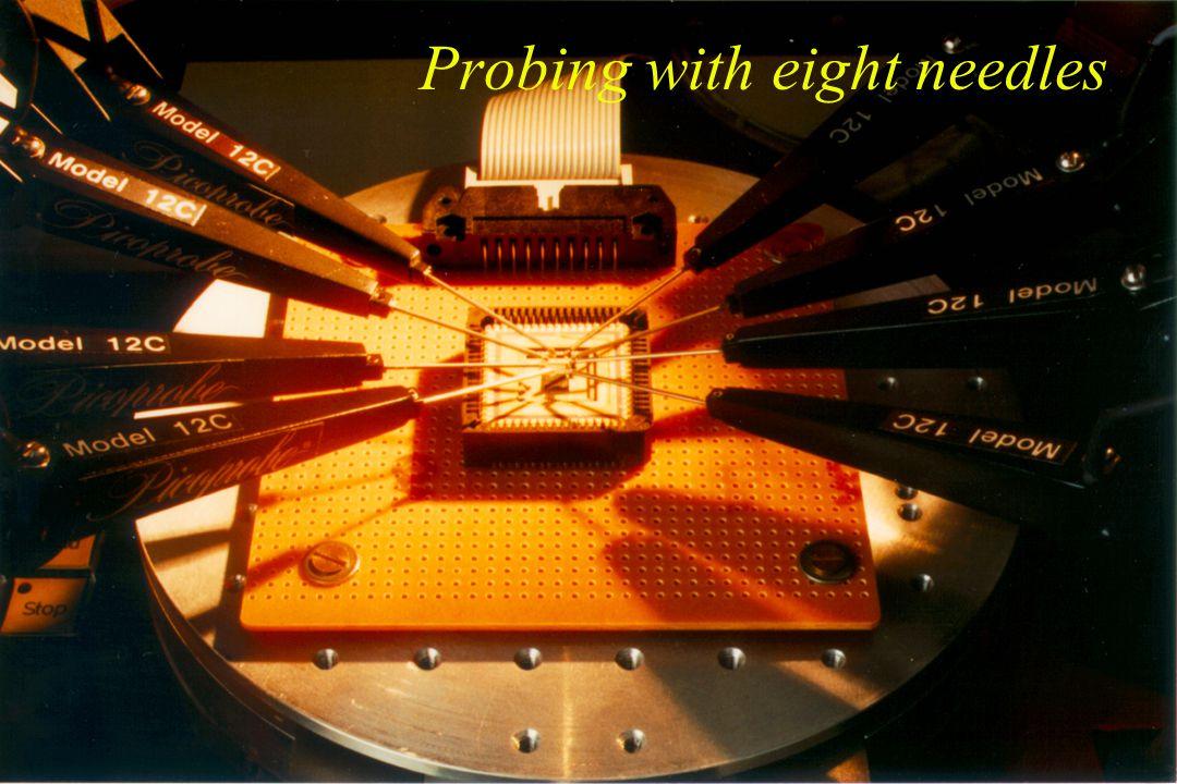 Sub micron probe station