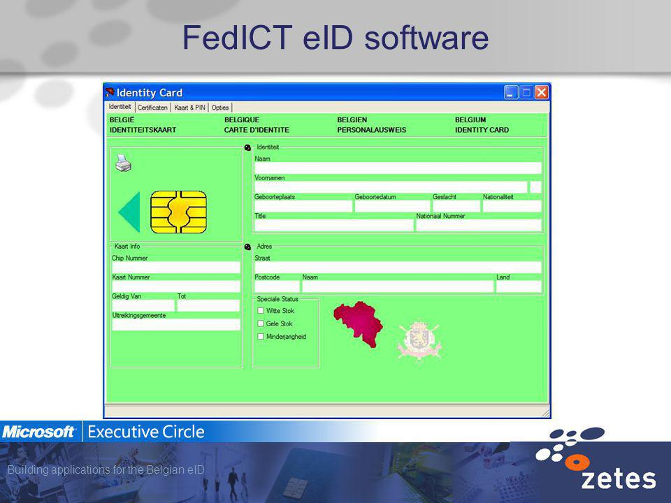 Building applications for the Belgian eID FedICT eID software