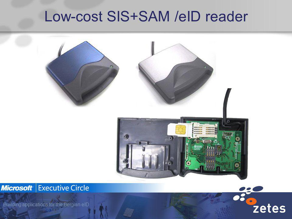 Building applications for the Belgian eID Low-cost SIS+SAM /eID reader