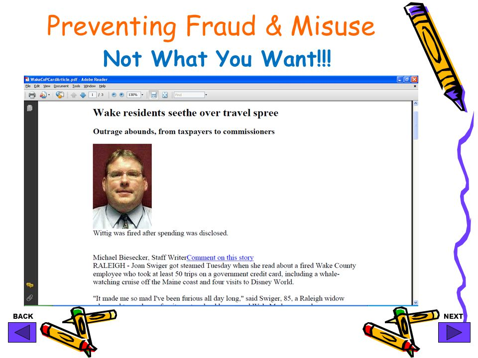 BACKNEXT Preventing Fraud & Misuse Not What You Want!!!