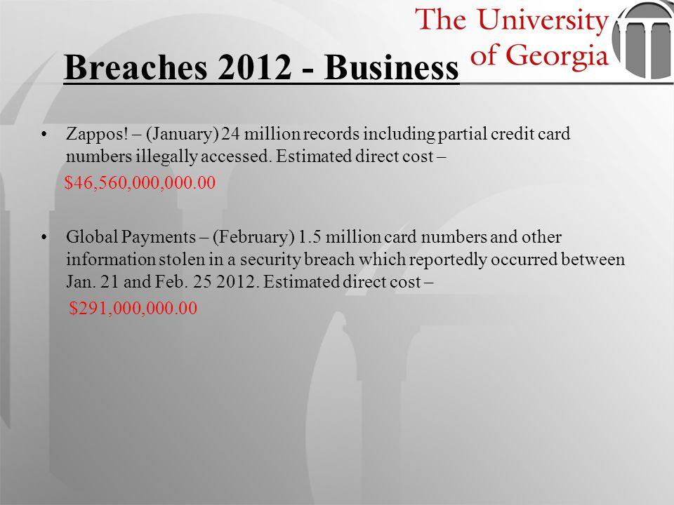 Schnucks Markets – (March) 2.4 million credit and debit card numbers stolen.