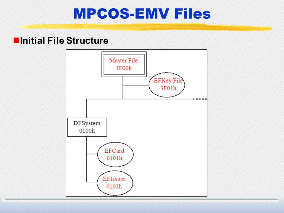 MPCOS-EMV Files nInitial File Structure