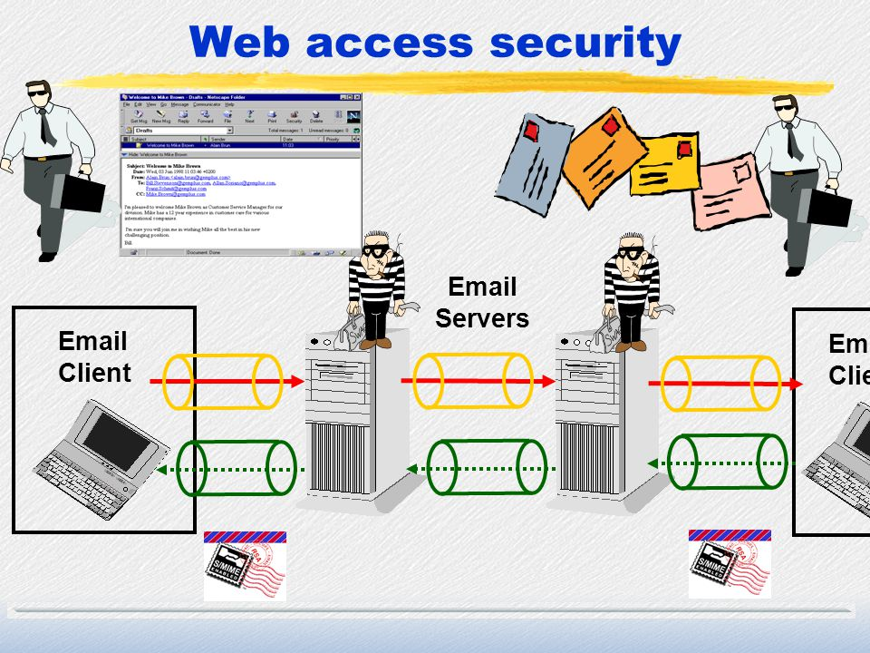 Web access security Email Client Email Client Email Servers