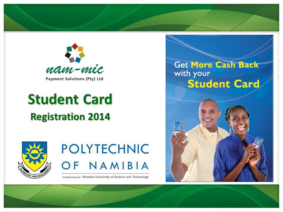 Student Card Registration 2014