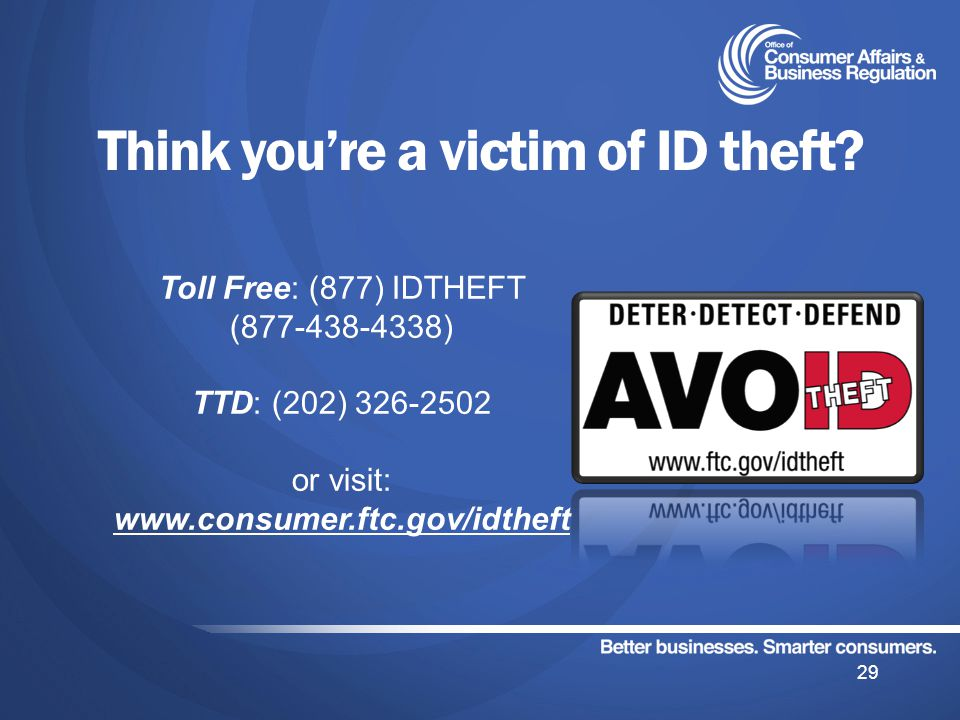 Think youre a victim of ID theft.