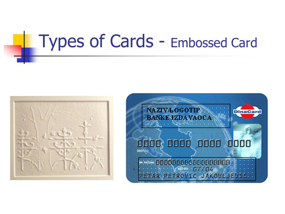 Types of Cards - Embossed Card