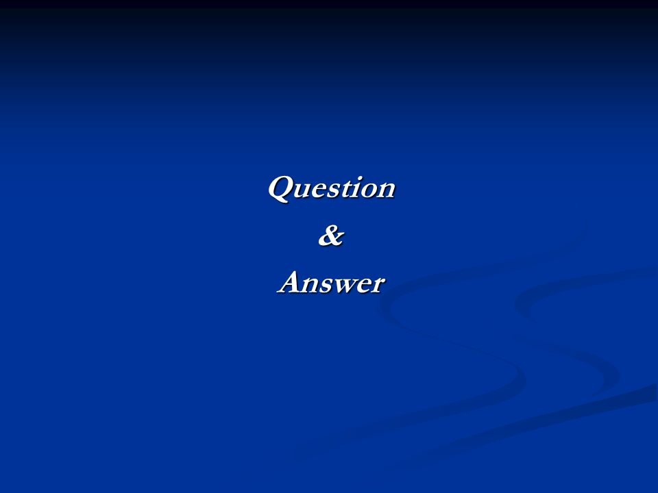 Question&Answer
