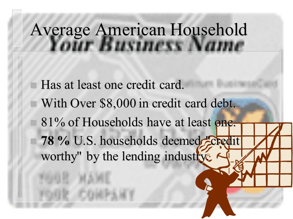 Credit Card Statistics n Farm Business Management n Mr. Gardner – Junction City High School – http://www.consumercredit.com/cardstats.htm