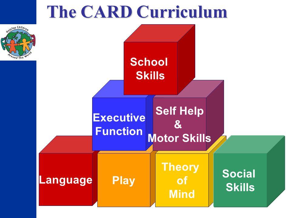 The CARD Curriculum Language Play Theory of Mind Social Skills Executive Function Self Help & Motor Skills School Skills