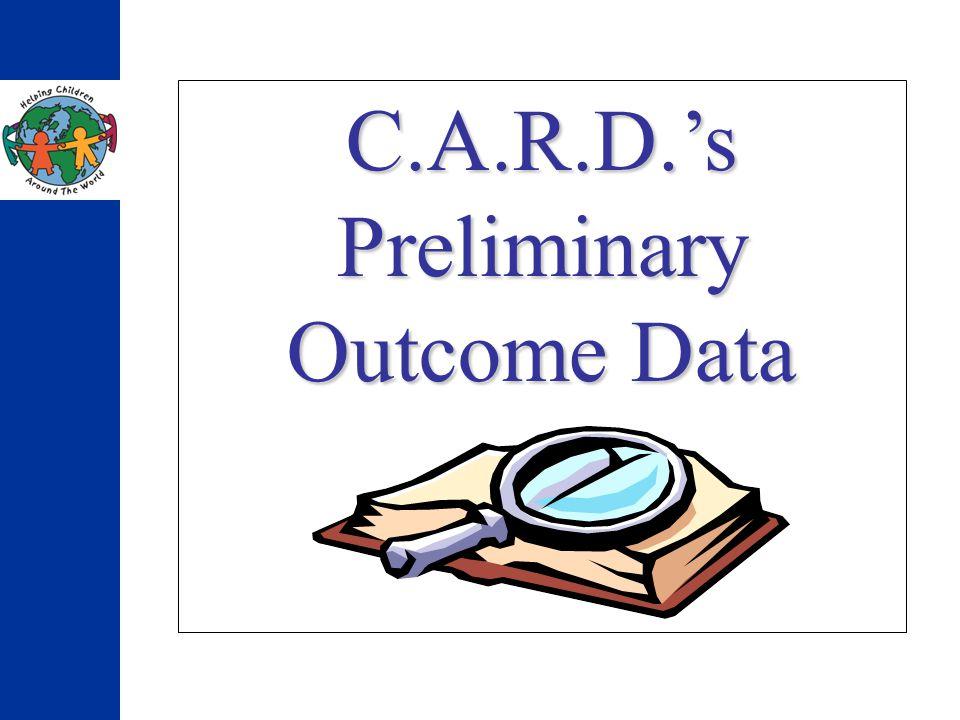 C.A.R.D.s Preliminary Outcome Data