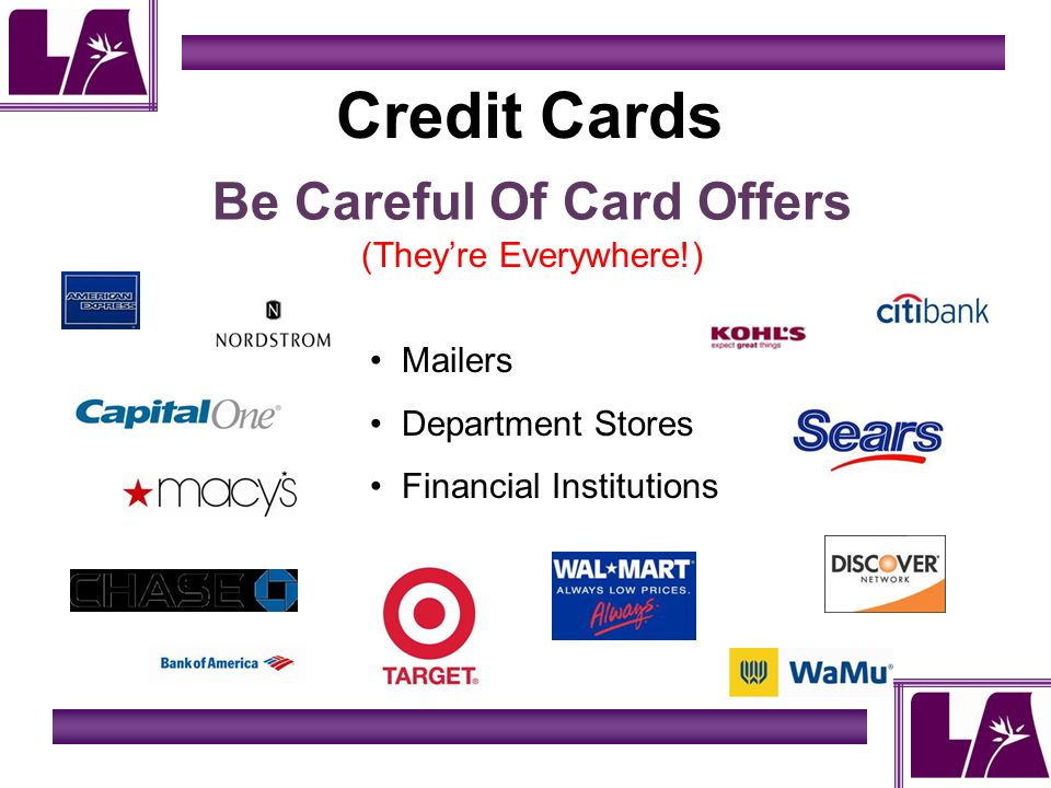 Credit Cards Be Careful Of Card Offers (Theyre Everywhere!) Mailers Department Stores Financial Institutions