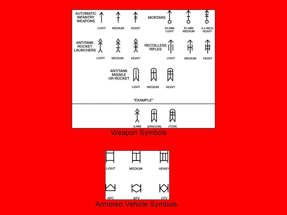 Weapon Symbols Armored Vehicle Symbols
