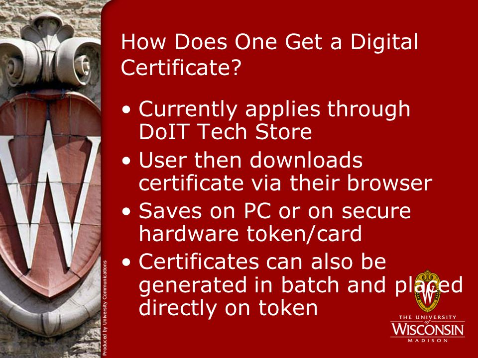 How Does One Get a Digital Certificate.