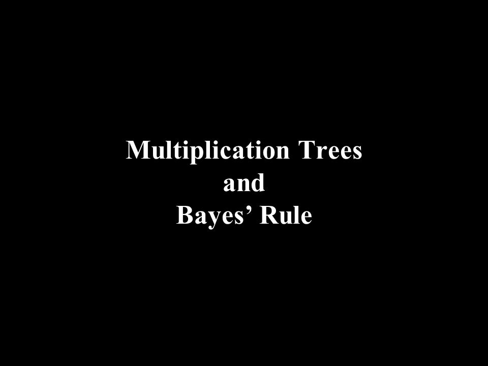 Multiplication Trees and Bayes Rule