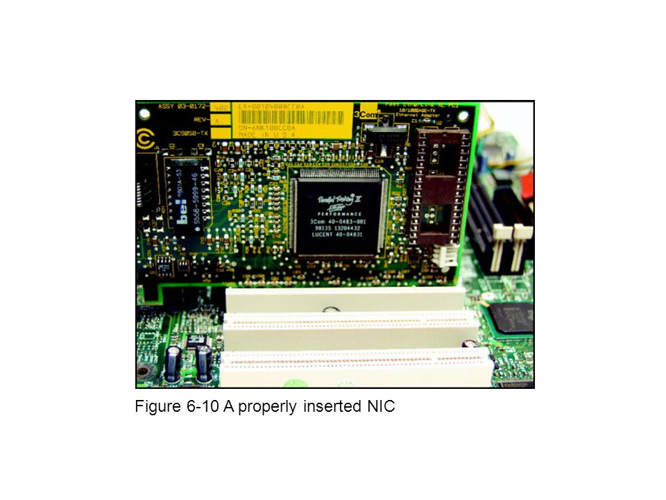 Figure 6-10 A properly inserted NIC