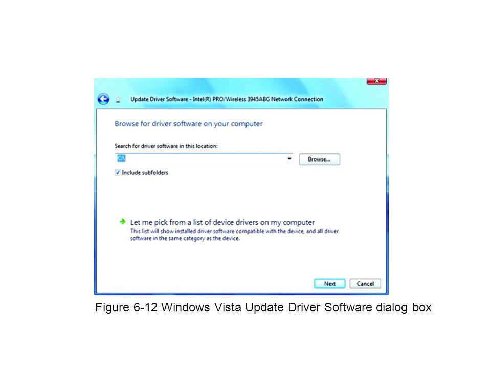 Figure 6-12 Windows Vista Update Driver Software dialog box