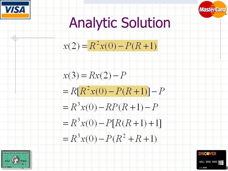 Analytic Solution