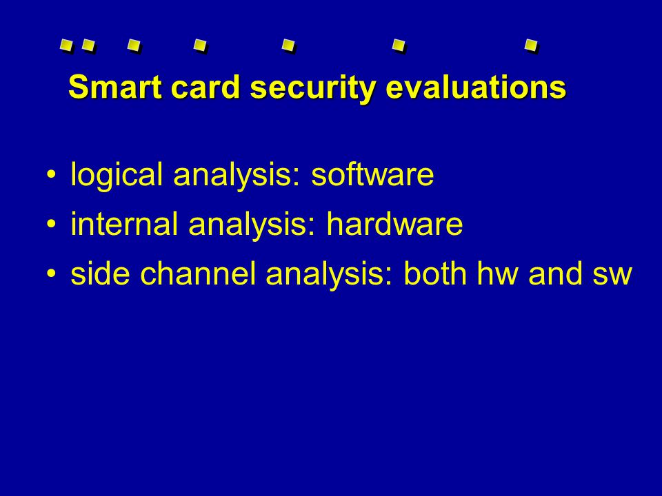 Whats inside a smart card .