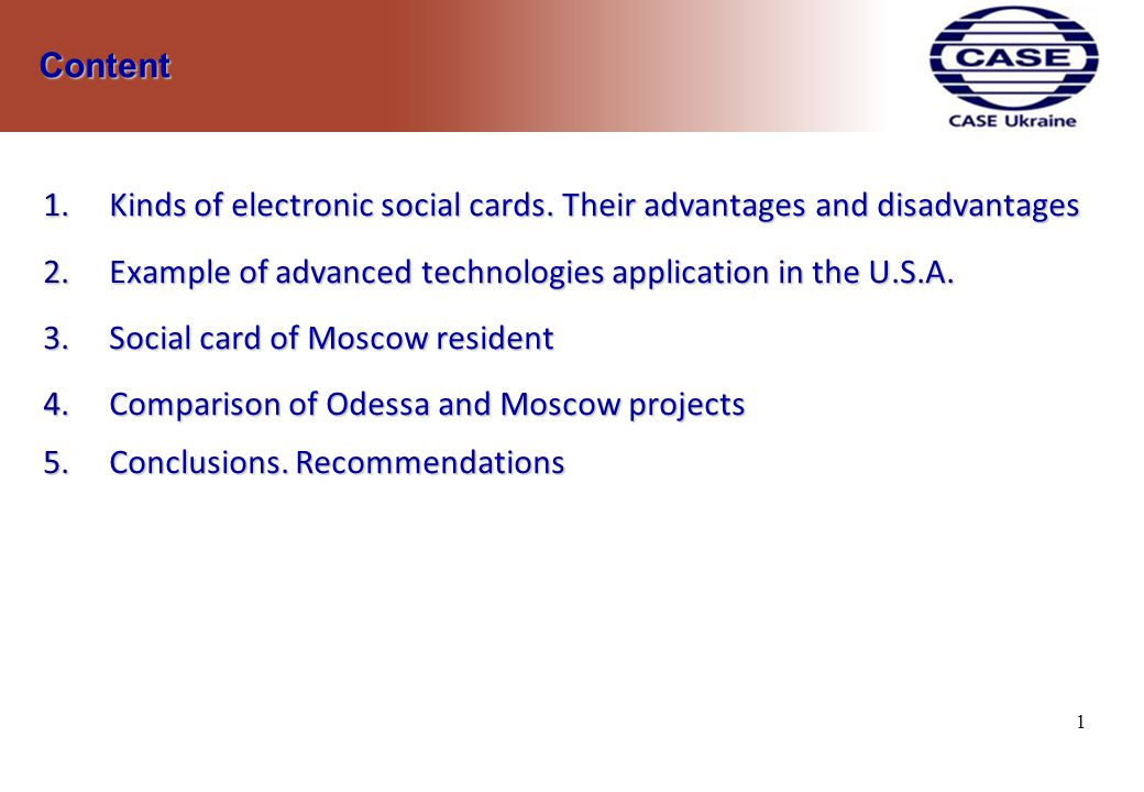 1.Kinds of electronic social cards.