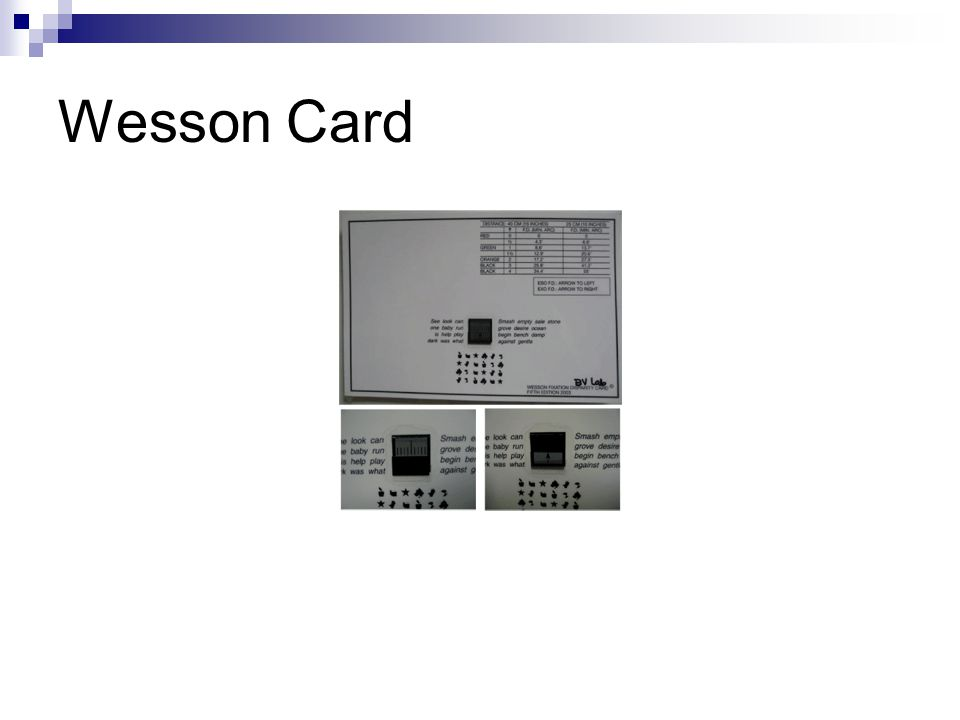 Wesson Card