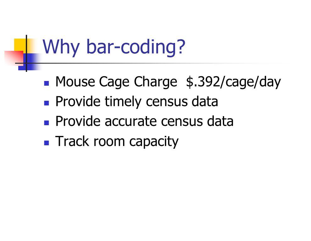 Why bar-coding.