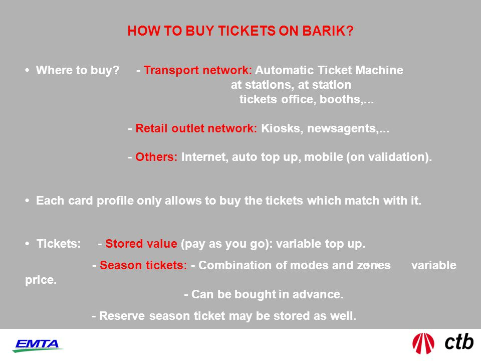 HOW TO BUY TICKETS ON BARIK. Where to buy.
