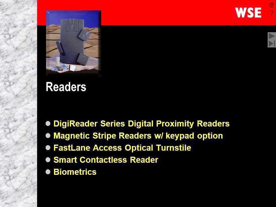 1 Readers DigiReader Series Digital Proximity Readers Magnetic Stripe Readers w/ keypad option FastLane Access Optical Turnstile Smart Contactless Rea
