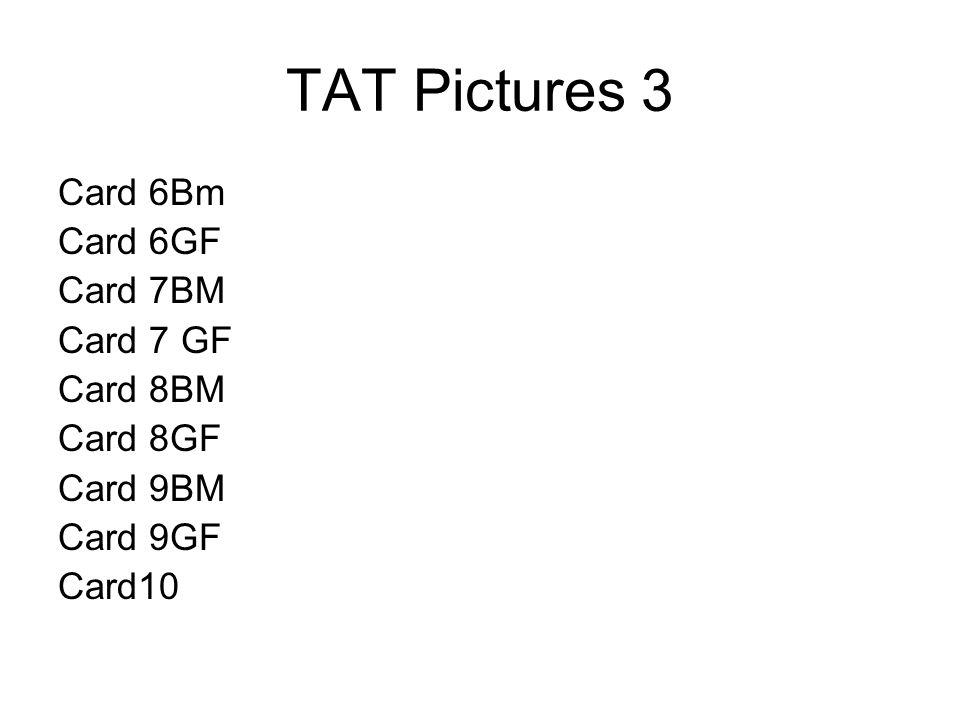 TAT Pictures 3 Card 6Bm Card 6GF Card 7BM Card 7 GF Card 8BM Card 8GF Card 9BM Card 9GF Card10