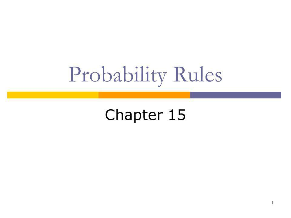 1 Probability Rules Chapter 15