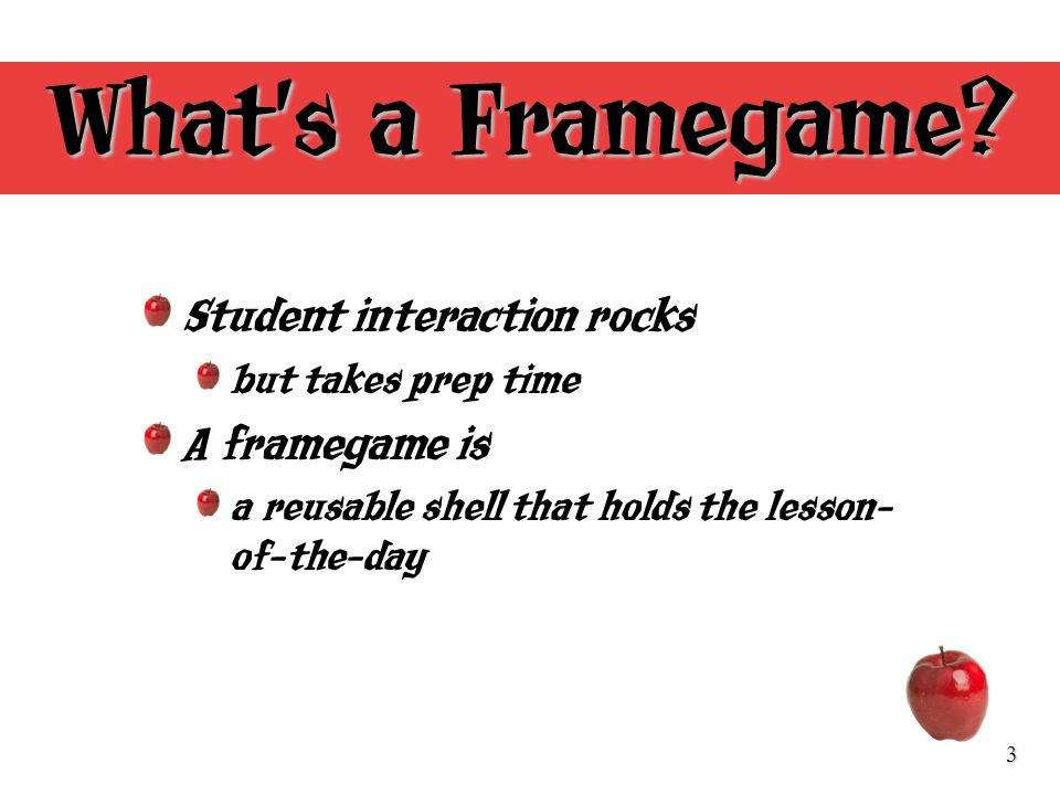 3 Whats a Framegame.