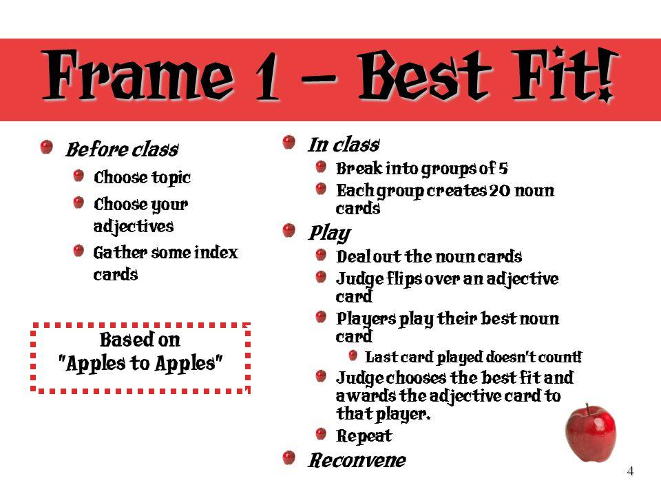 4 Frame 1 – Best Fit.