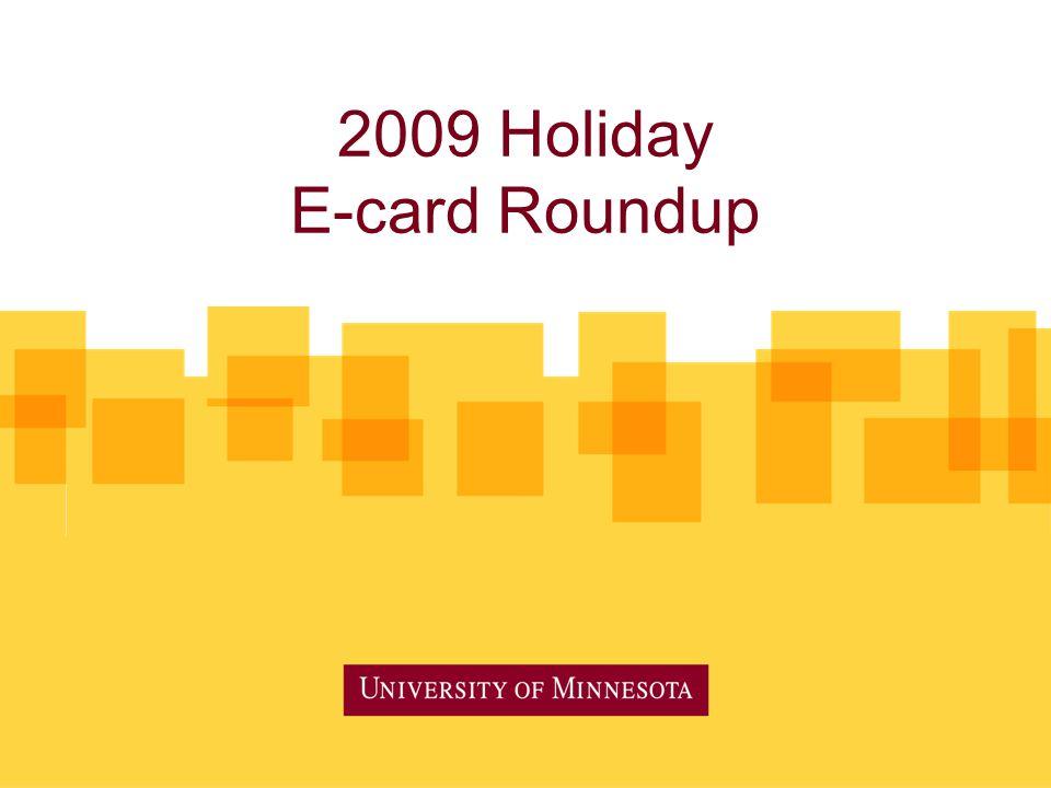2009 Holiday E-card Roundup