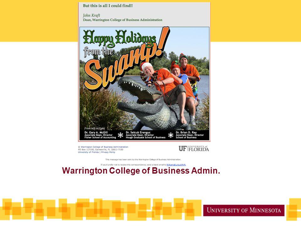 Warrington College of Business Admin.
