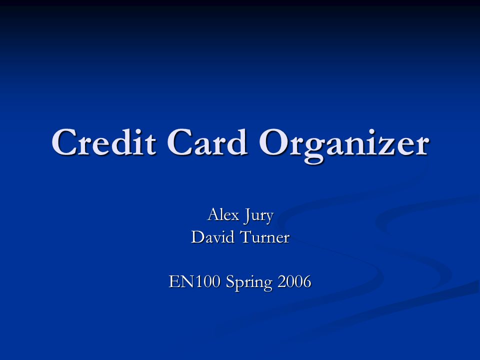 Introduction Why make a credit card organizer.Why make a credit card organizer.