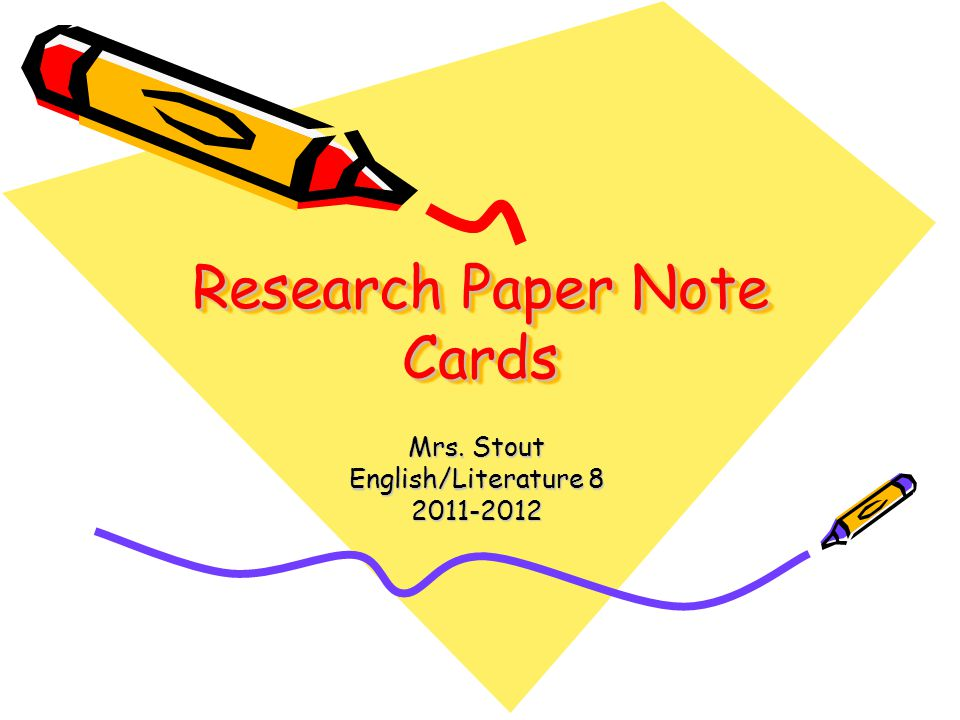 4 items to include on note card.