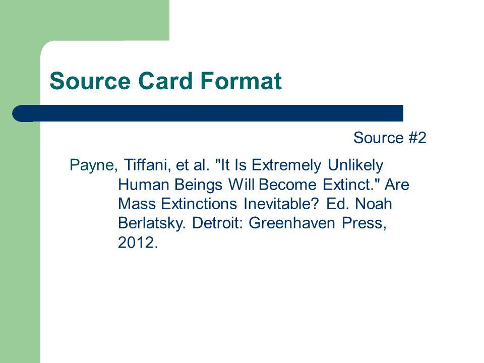 Source Card Format Source #2 Payne, Tiffani, et al.